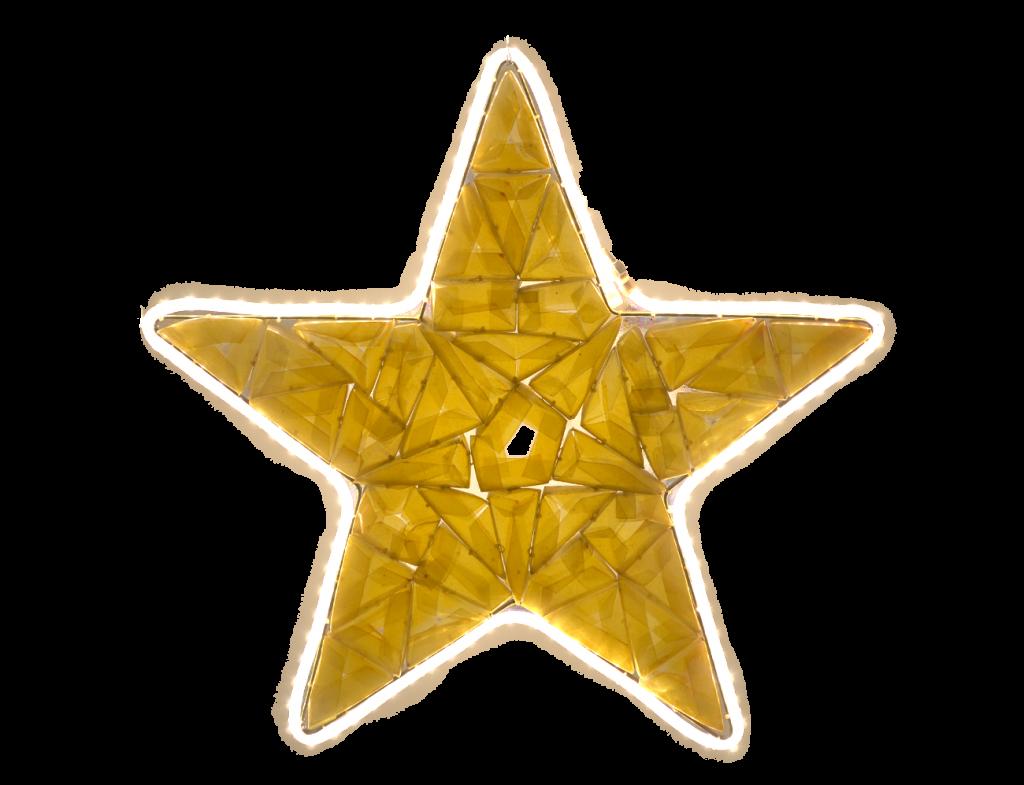 estrela amarela upcycling PET decoração